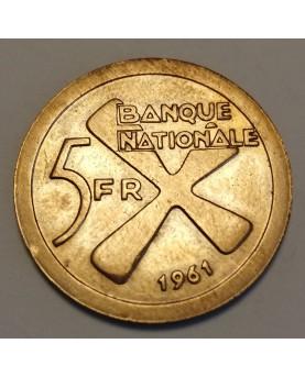 Katanga. 5 Franc, 1961 m.
