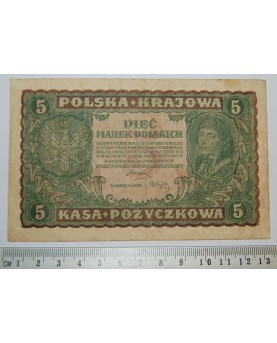 Lenkija. 5 markės, 1919 m.,...