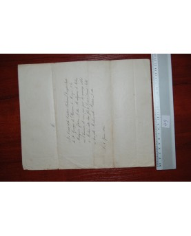 Prancūzija. Senovinis laiškas, 1864 m. (n049)