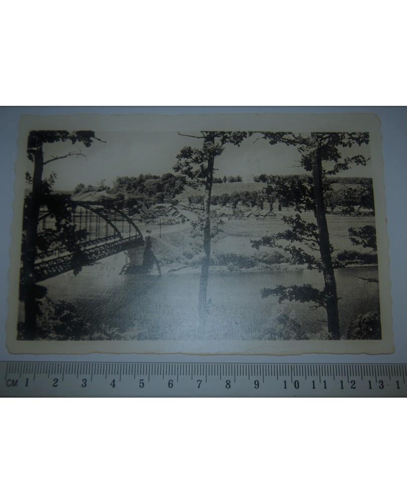 Nevėžis ties Raudondvariu, 9x14 cm. Tiltas (n004)