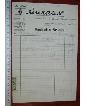 "AB ""Varpas"" sąskaita (n067)"