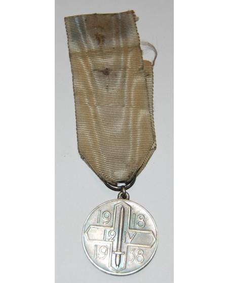 """Suomija. Medalis """"20 m. Helsinkio išlaisvinimui"""" 12.04.1918-1938."""