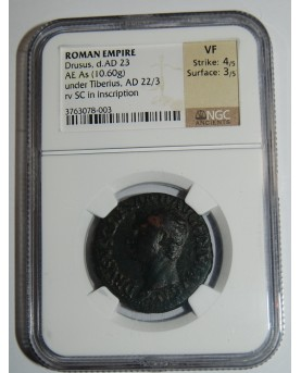 Romos Imperija. Drusus, d. AD 23, AE As (10,60 g)