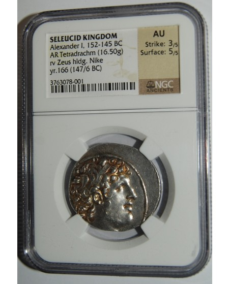Seleucidų Karalystė. Alexander I, 152-145 BC, AR Tetradrachm (16,50 g)