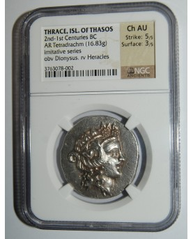 Thrace, Isl. of Thasos, 2nd - 1st Centuries BC, AR Tetradrachm (16,83g)