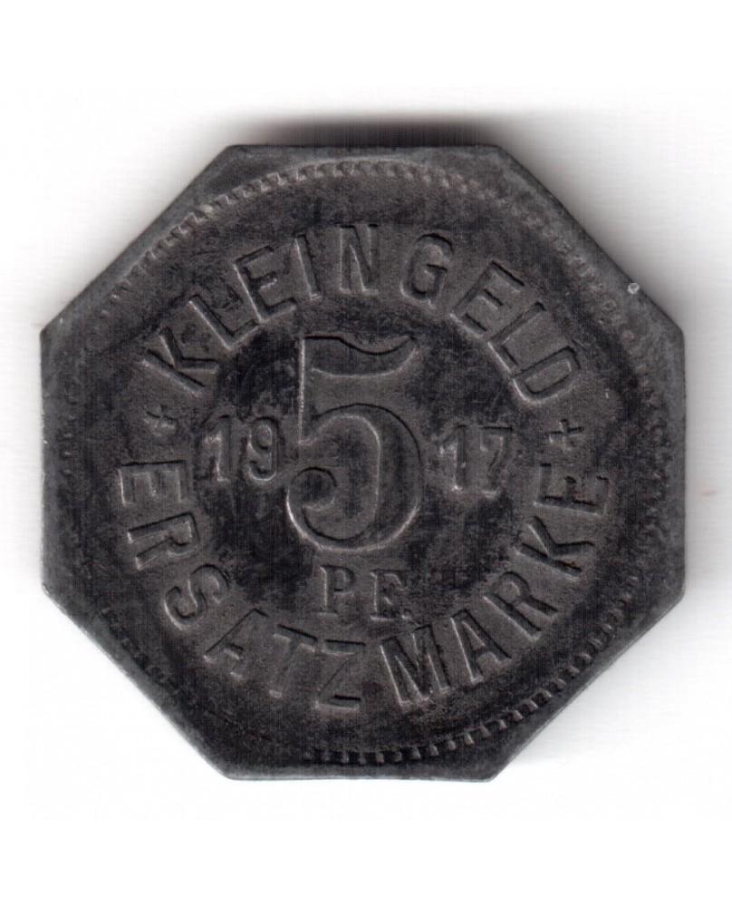 Vokietija. Notgeld 5 Pfennig 1917. Hall, (N186.4)