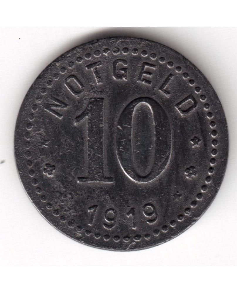 Vokietija. Notgeld 10 Pfennig 1919. Unterweserstadte, (N558.2)