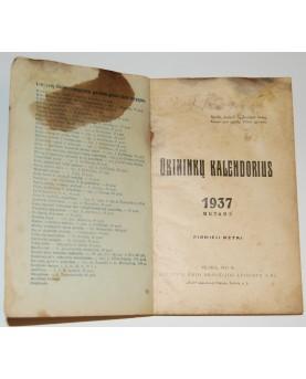 """""""Ūkininkų kalendorius 1937..."""