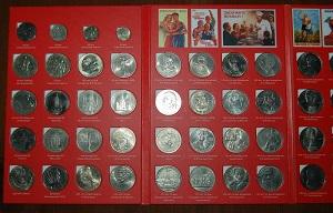 SSSR proginių monetų rinkinys, 1965-1991 m. (68 vnt.)